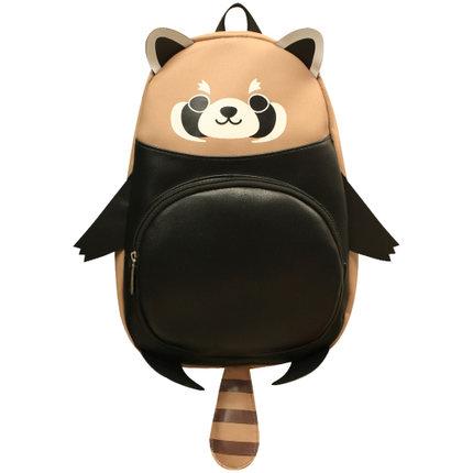 海外充值小熊猫动漫书包女背包